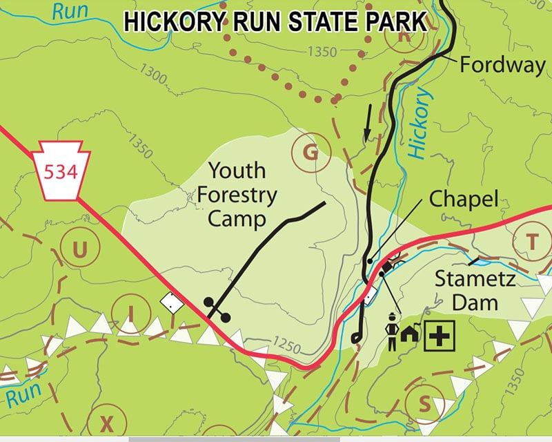 Hickory Run State Park Map