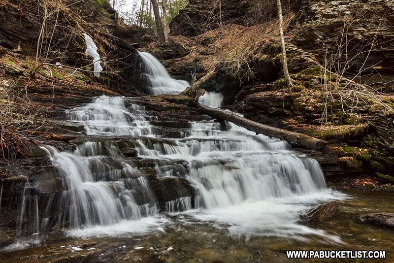Huron Falls at Ricketts Glen State Park.