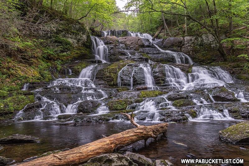 Indian Ladder Falls along Hornsbeck Creek in Pike County Pennsylvania