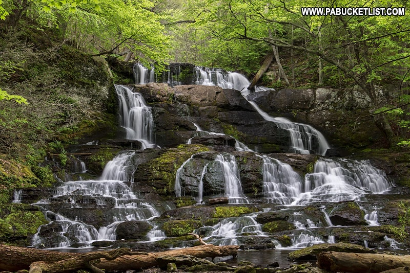 Indian Ladder Falls in Pike County Pennsylvania