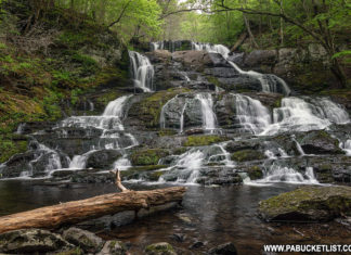 Indian Ladder Falls in the Delaware Water Gap.