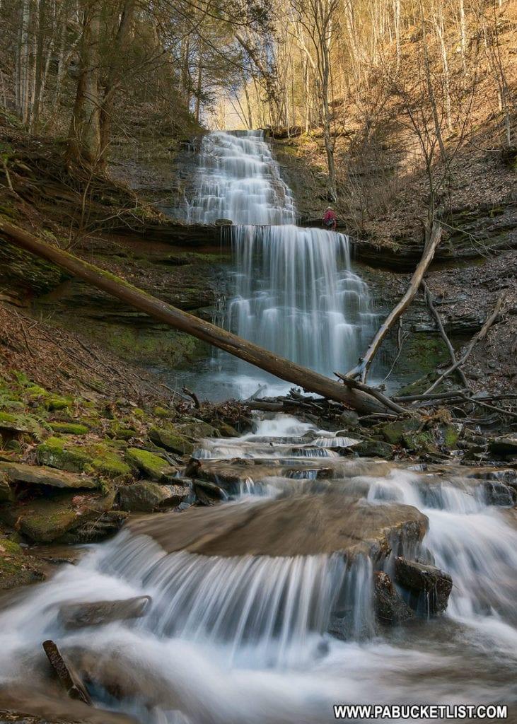 Lower Bear Run Falls in Tioga County, PA