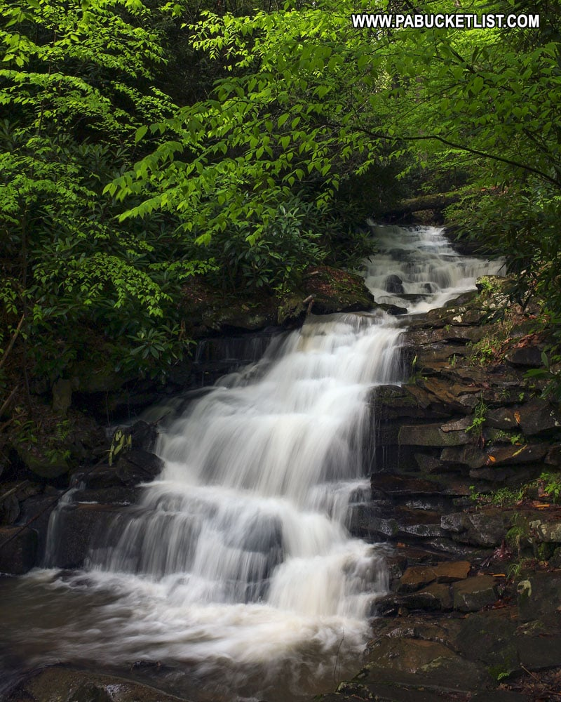Middle Rainbow Falls on Abbot Run at Trough Creek State Park