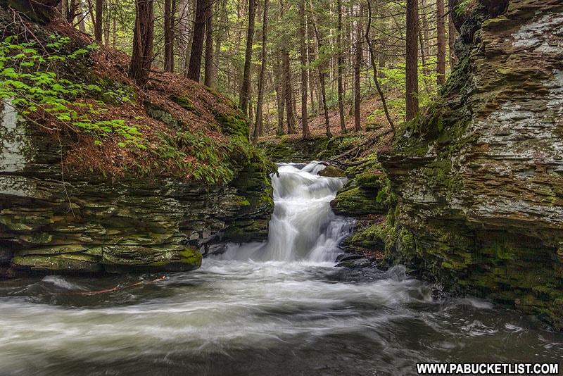 Mine Hole Run Falls in Pennsylvania