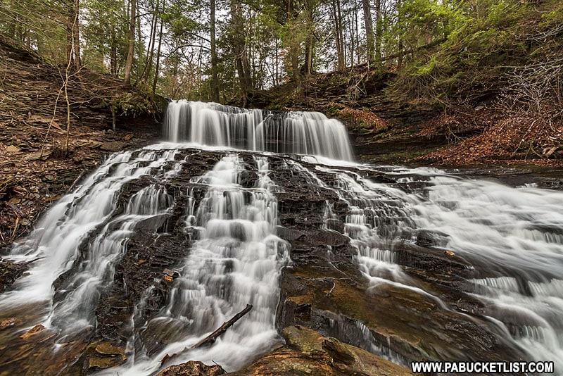 Mohawk Falls at Ricketts Glen State Park in Pennsylvania.