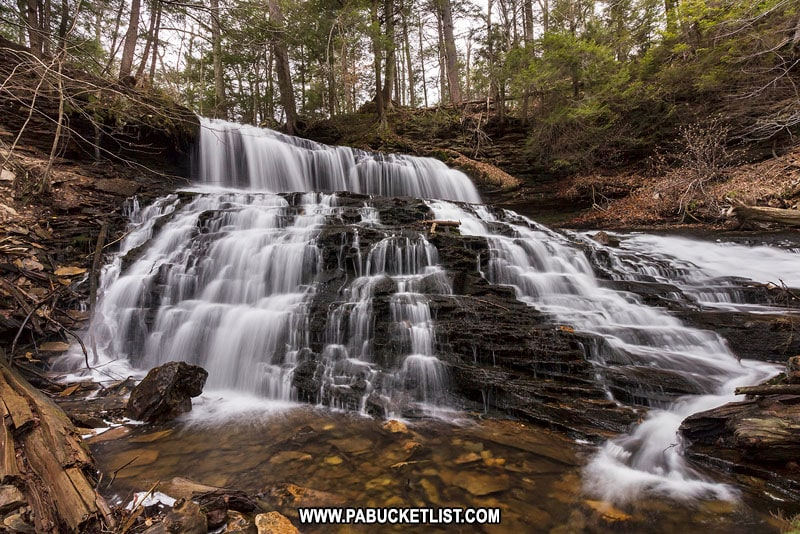 Mohawk Falls at Ricketts Glen State Park.