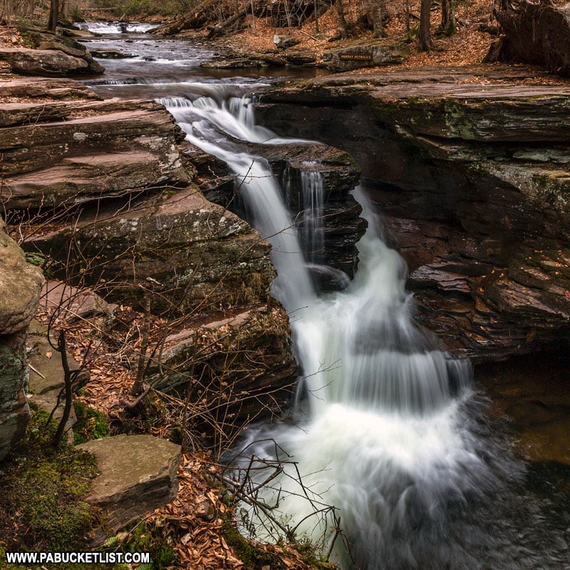 Murray Reynolds Falls at Ricketts Glen State Park.