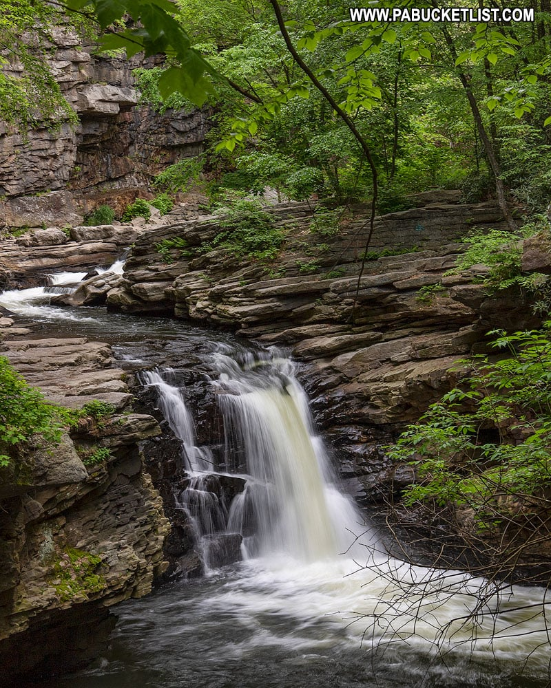 Nay Aug Falls on Roaring Brook in Lackawanna County