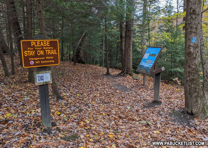 The North Country Trail at McConnells Mill State Park