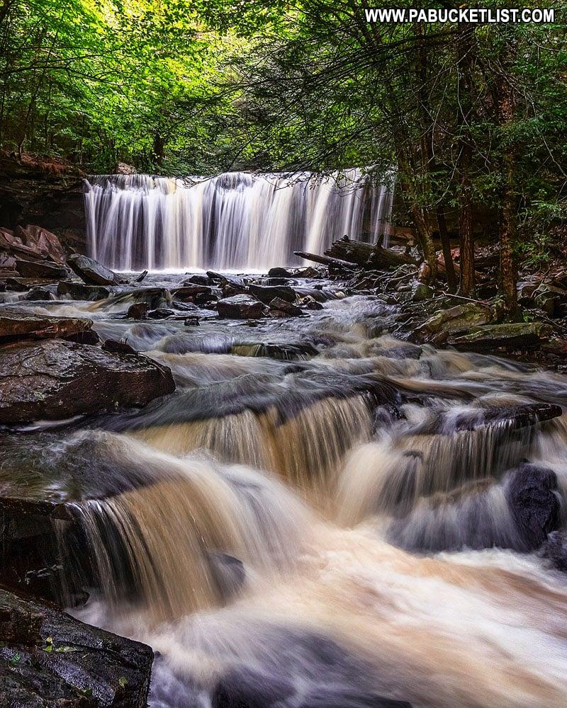 Oneida Falls at Ricketts Glen State Park in Pennsylvania.
