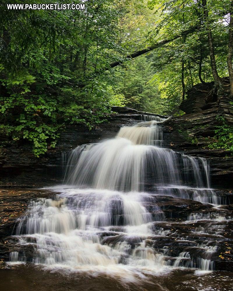 Onondoga Falls at Ricketts Glen State Park.