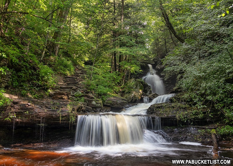 Approaching Ozone Falls at Ricketts Glen State Park