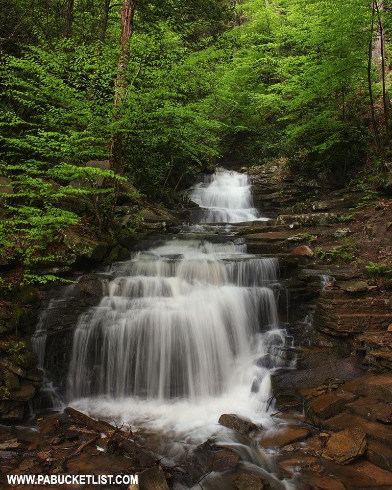 Rainbow Falls in Pennsylvania at Trough Creek State Park
