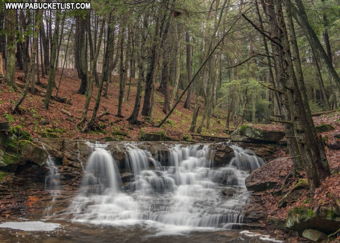 Rapp Run Falls in Clarion County Pennsylvania