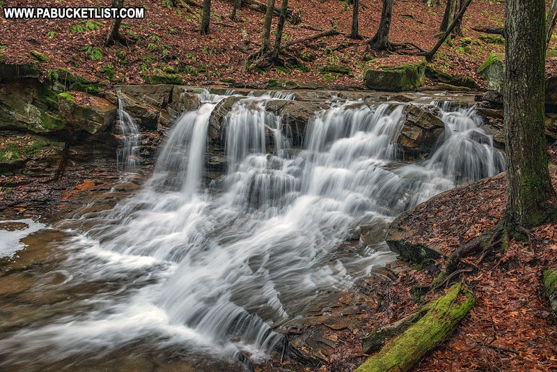 Rapp Run Falls near Clarion Pennsylvania