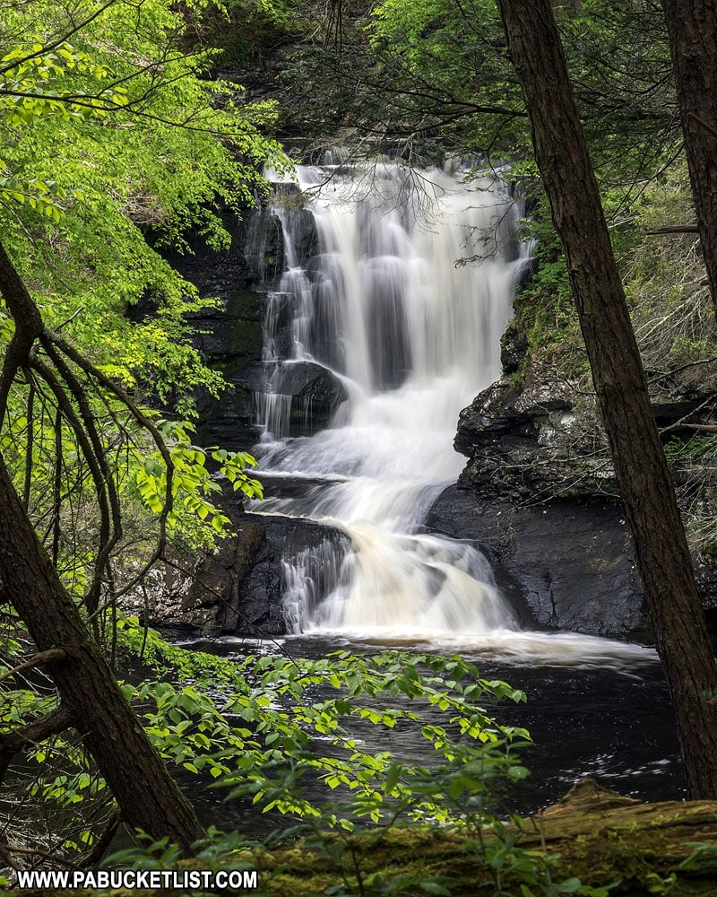 Unnamed waterfall on Raymondskill Creek in Pike County PA