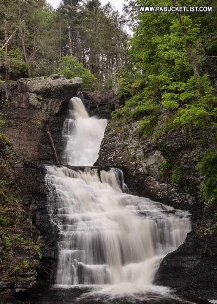 Raymondskill Falls in Pennsylvania