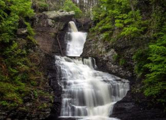 Raymondskill Falls in Pike County PA