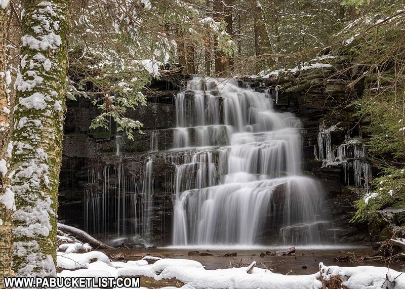 Rosecrans Falls near Loganton PA in the winter.