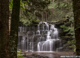 Rosecrans Falls in Clinton County Pennsylvania on a summer morning.