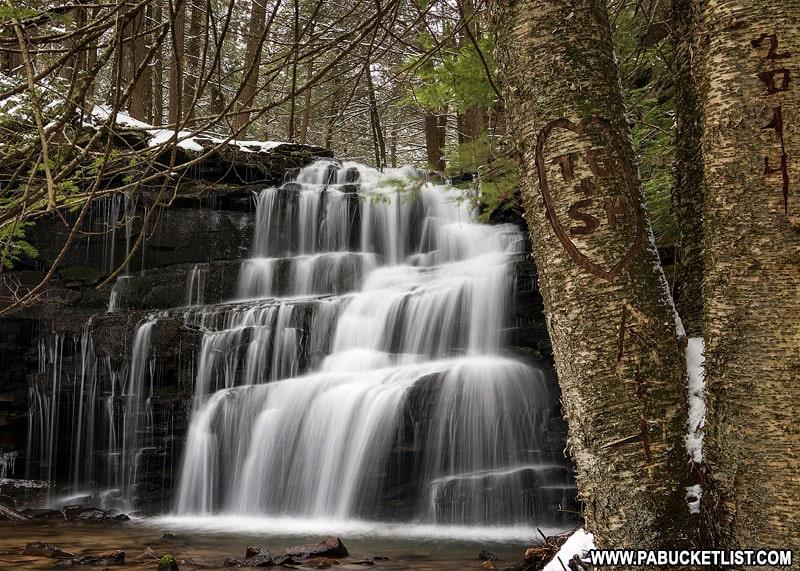 Rosecrans Falls in Pennsylvania on a winter morning.