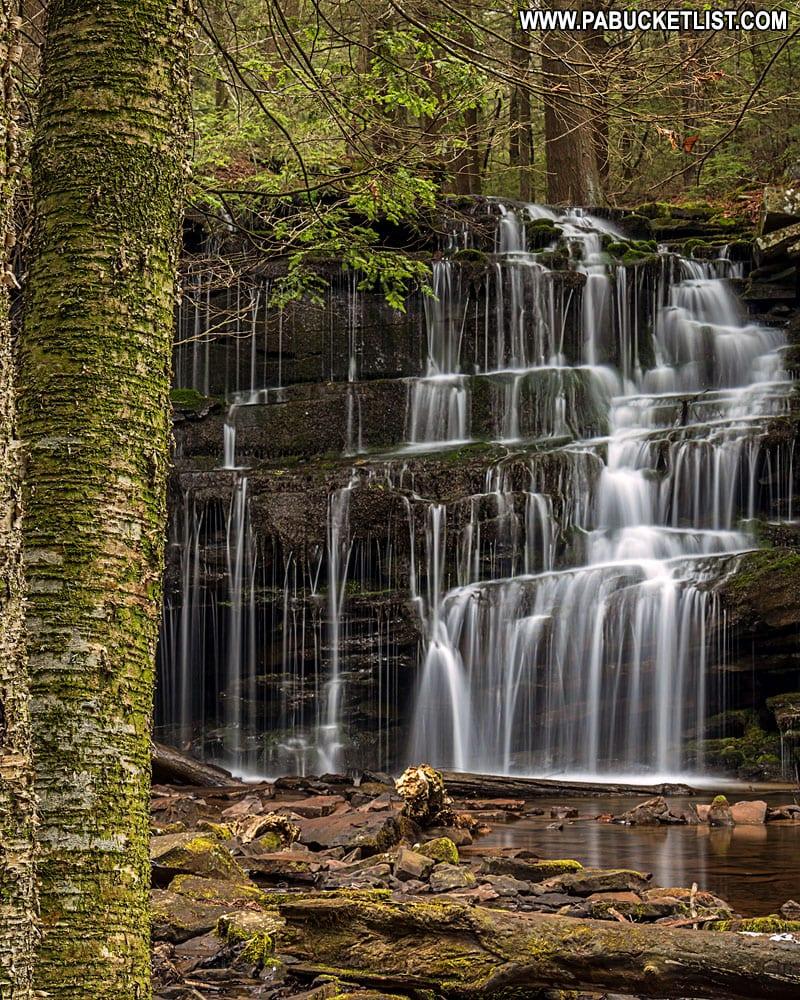 Rosecrans Falls Pennsylvania on a summer morning.