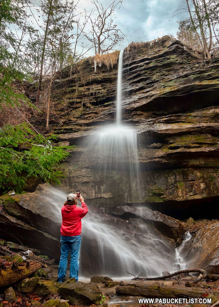 Rusty Glessner at Alpha Falls at McConnells Mill State Park