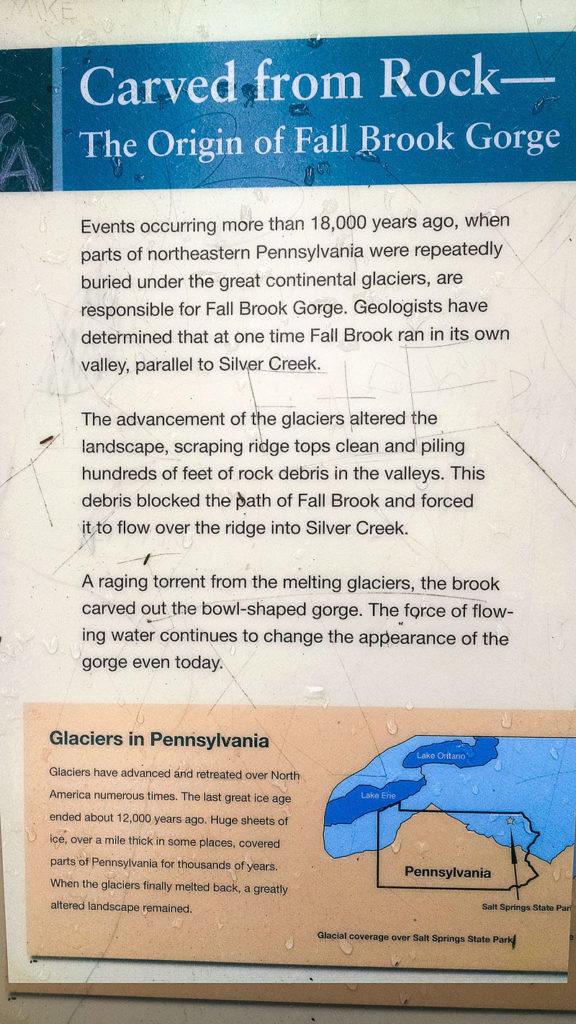 Origin of Fall Brook Gorge at Salt Springs State Park