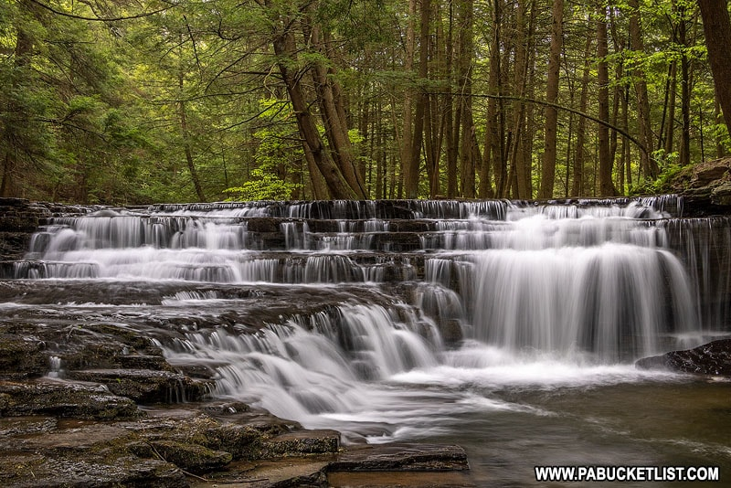 Third waterfall on Fall Brook at Salt Springs State Park in Pennsylvania