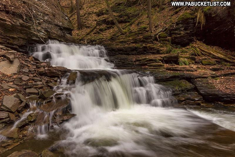 Seneca Falls at Ricketts Glen State Park in Pennsylvania