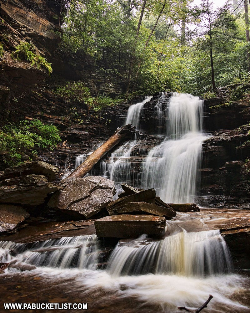 Shawnee Falls at Ricketts Glen State Park in Pennsylvania