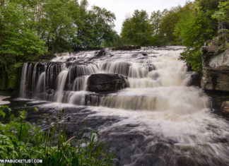 Shohola Falls on State Game Lands 180 in Pike County