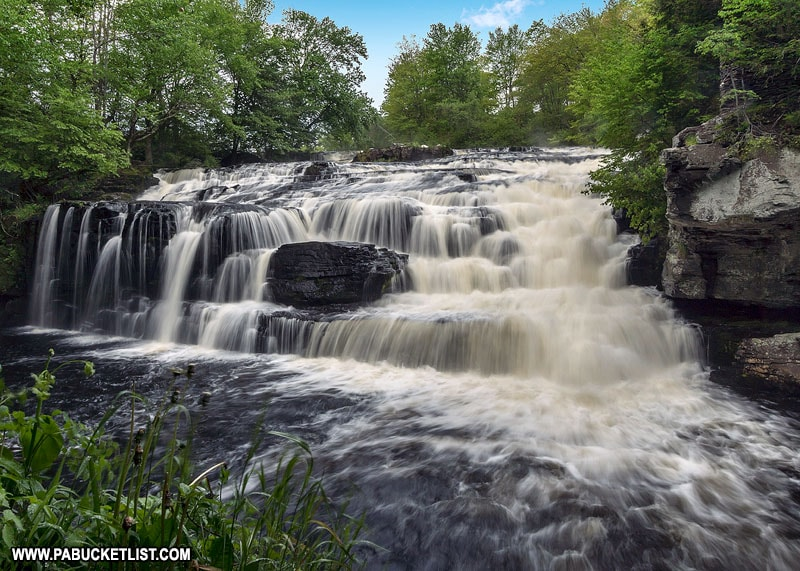 Shohola Falls on State Game Lands 180 in Pike County Pennsylvania