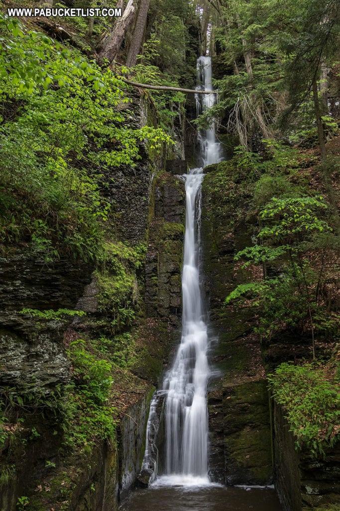 Silverthread Falls in the Delaware Water Gap.