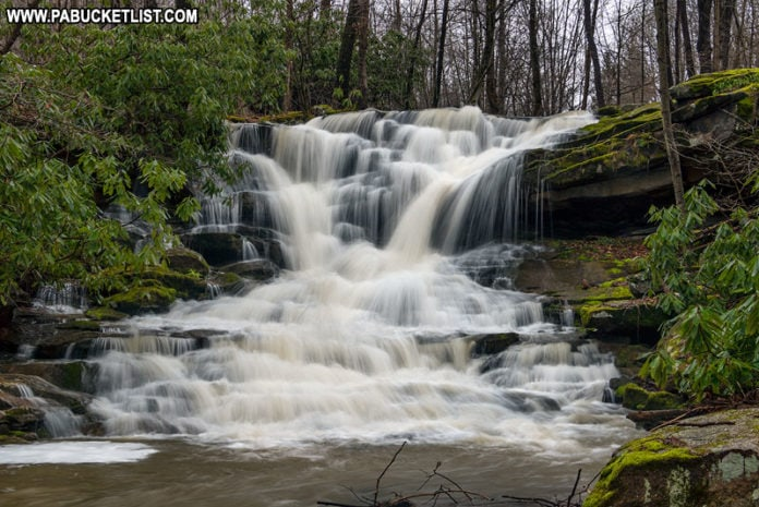 Stewarton Falls in Fayette County Pennsylvania