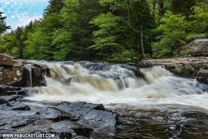 Tobyhanna Falls in the PA Pocono Mountains
