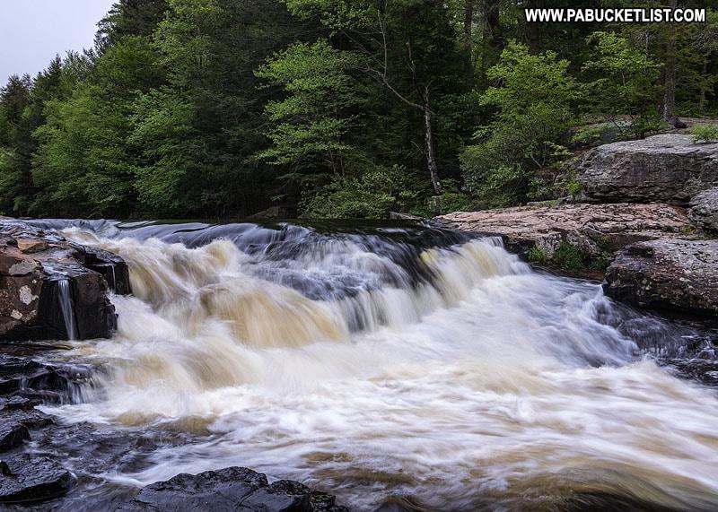 Tobyhanna Falls in the Pocono Mountains of Pennsylvania