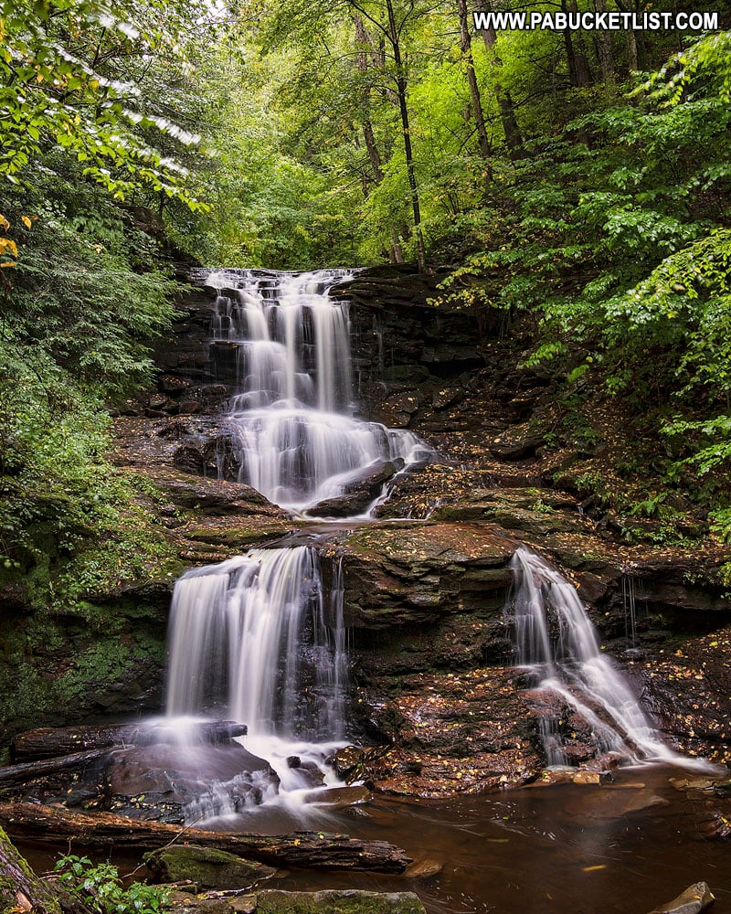 Tuscarora Falls at RIcketts Glen State Park in PA