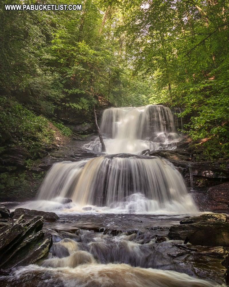 Tuscarora Falls at RIcketts Glen State Park in Pennsylvania