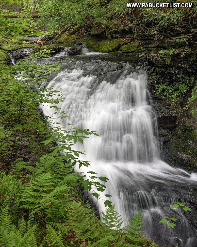 Waterfall along Upper Hornsbeck Creek.