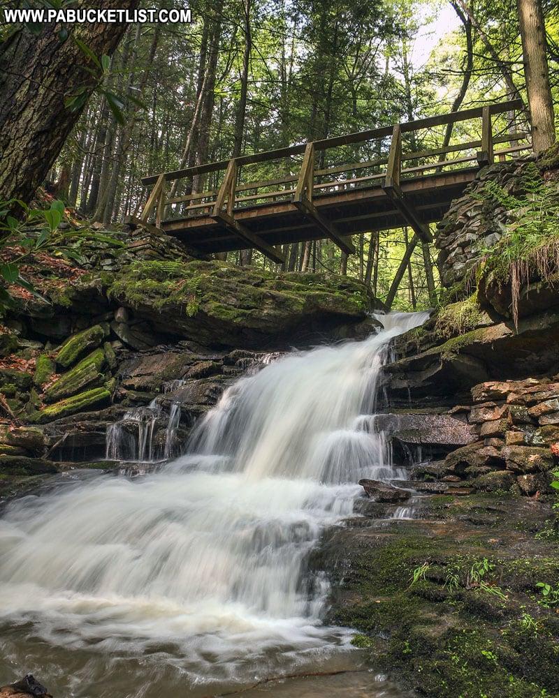 Upper Rainbow Falls on Abbot Run at Trough Creek State Park