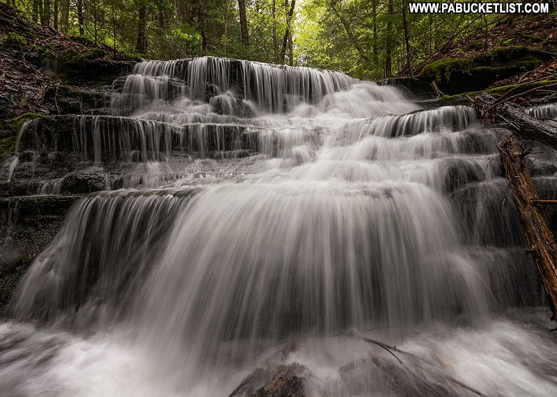 The uppermost waterfall on Bear Run in Tioga County.