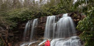 Cave Falls along the Glen Onoko Falls Trail near Jim Thorpe Pennsylvania
