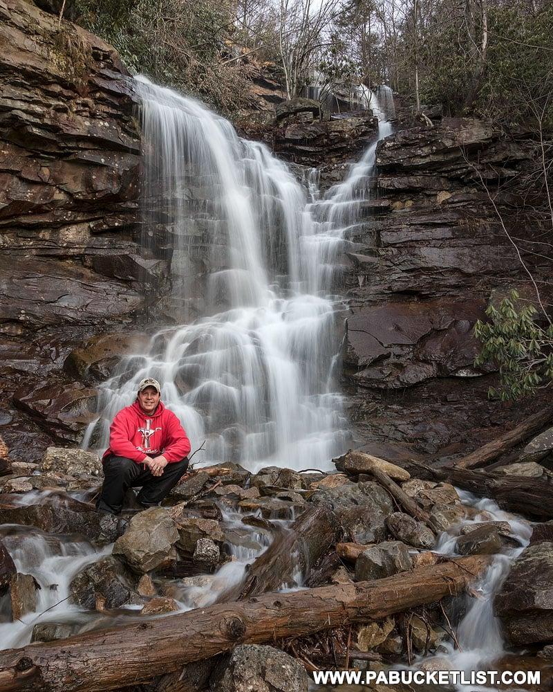 Chameleon Falls along the Glen Onoko Waterfalls Trail in Pennsylvania