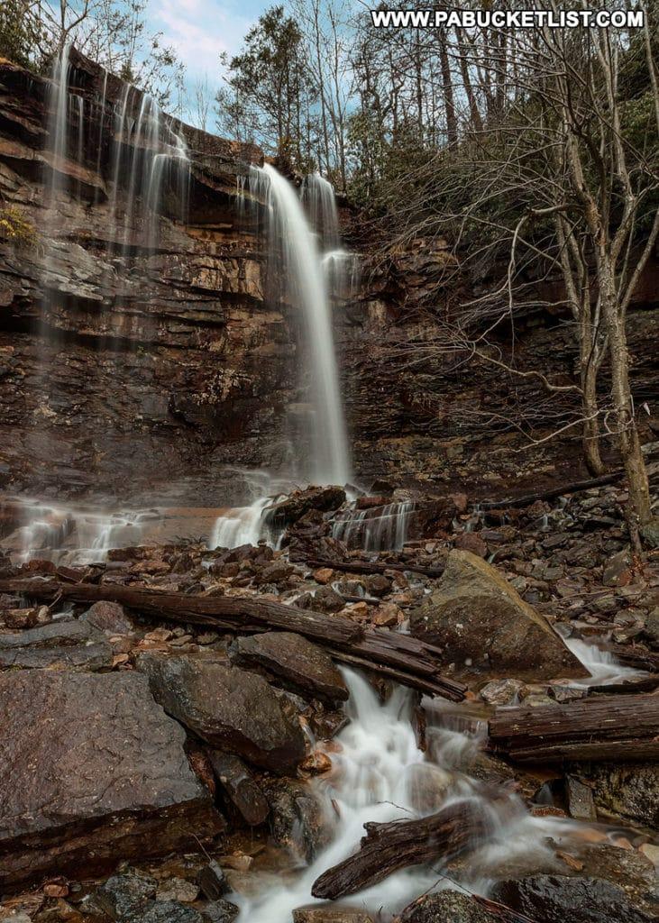 Onoko Falls along the Glen Onoko Falls Trail near Jim Thorpe Pennsylvania