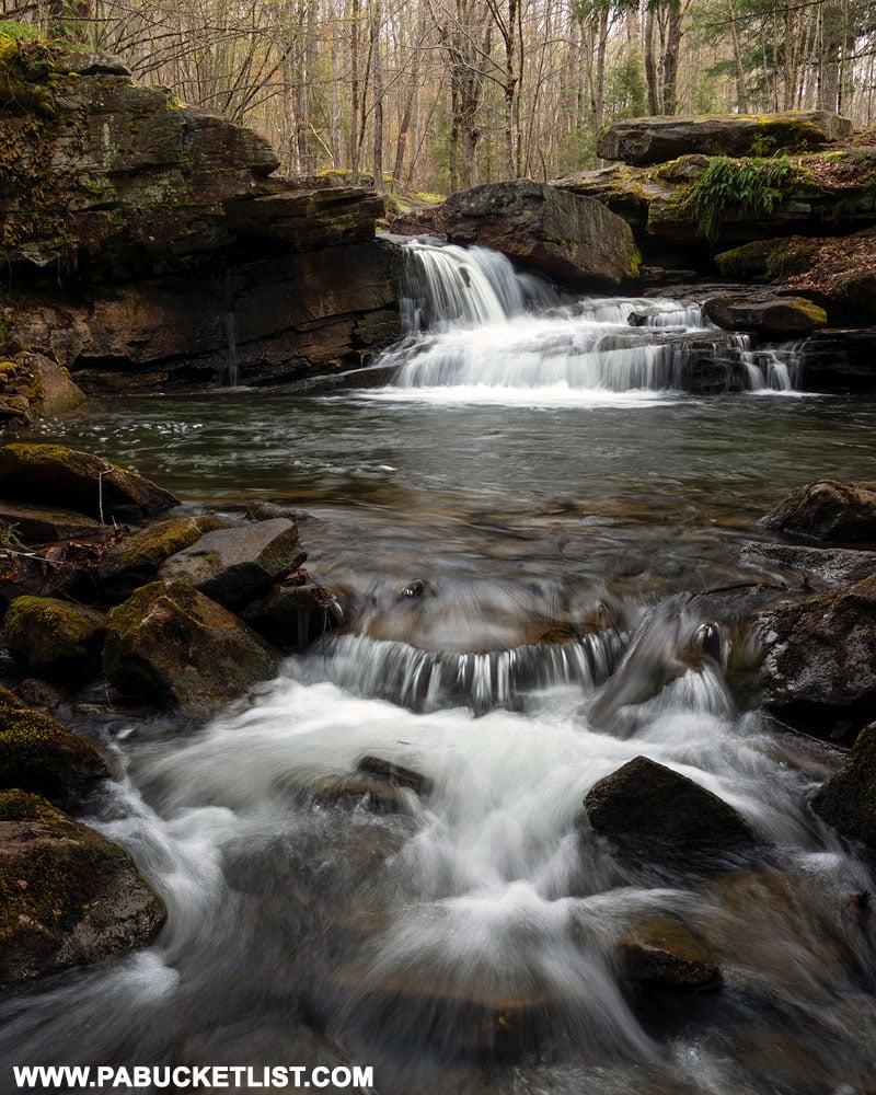 Downstream view of Lick Creek Falls