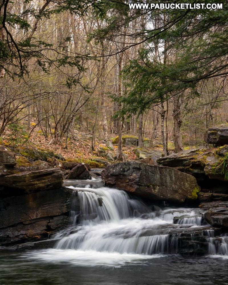 Lick Creek Falls along Landrus Road in Tioga County