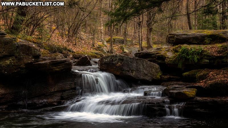 Lick Creek Falls in Tioga County Pennsylvania