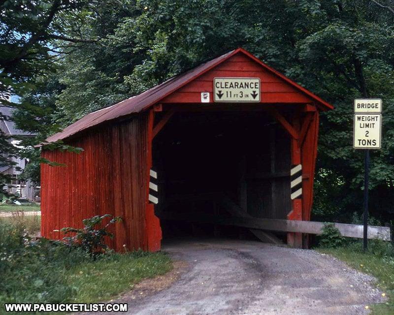 Logan Mills Covered Bridge in 1973
