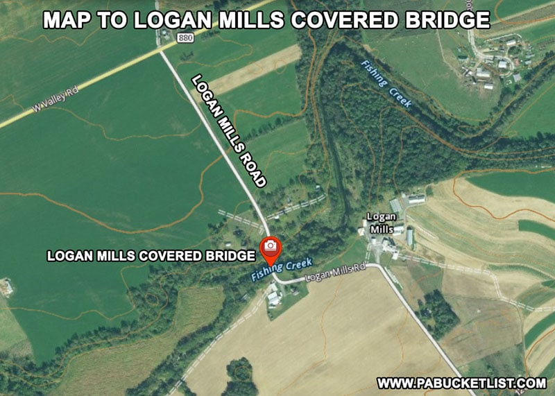 How to find Logan Mills Covered Bridge in Clinton County Pennsylvania
